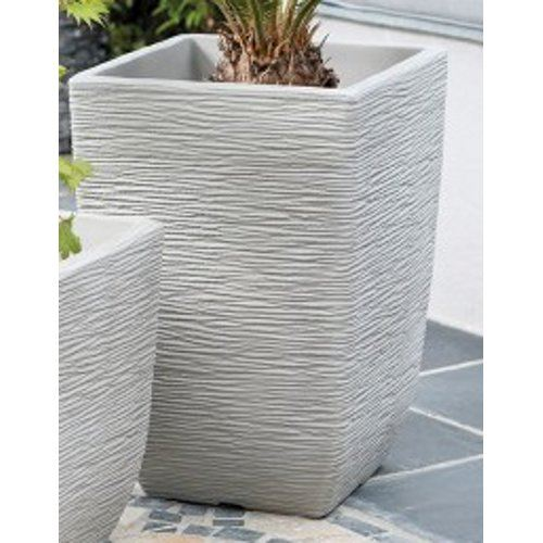 Cotswold Tall Planter Limestone Grey 33cm By Stewarts Bridgend