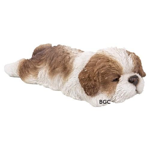 Vivid Arts Black /& White Shih Tzu PET PALS SLEEPING PUPPY DOG /& SHIH TZU BOX