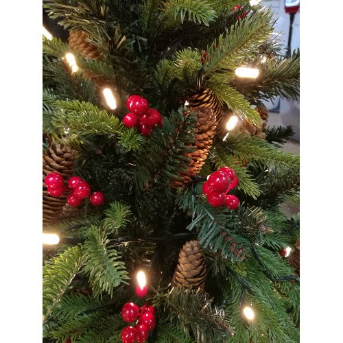 3ft Christmas Trees Artificial: 3ft Knightsbridge Pre Lit Potted Spruce Artificial