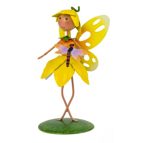 Fountasia Fairy Kingdom Floral Fairies Metal Sky Bluebell Garden Decoration
